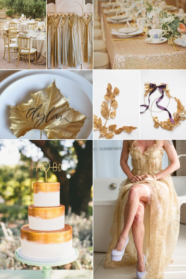 decor nunta auriu